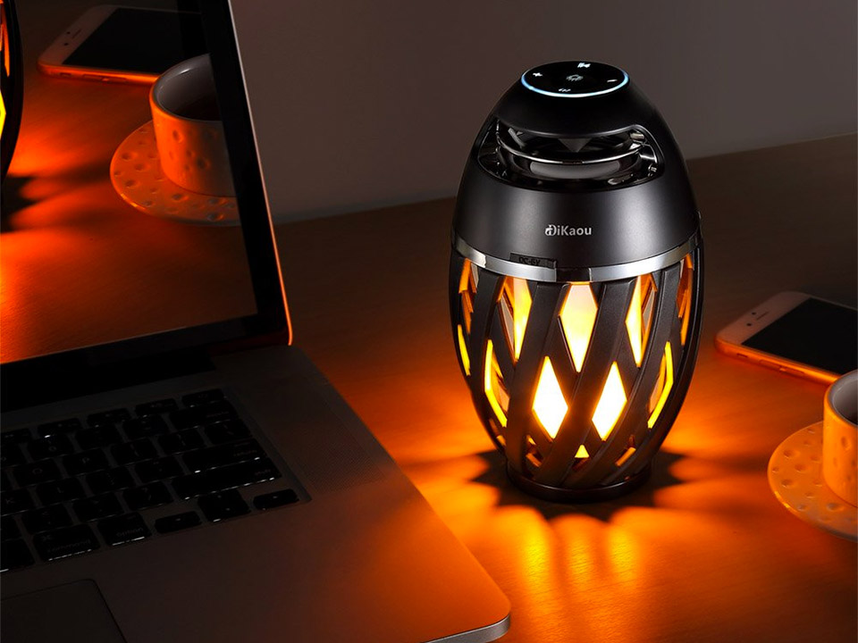 LED Flame Speaker Lamp