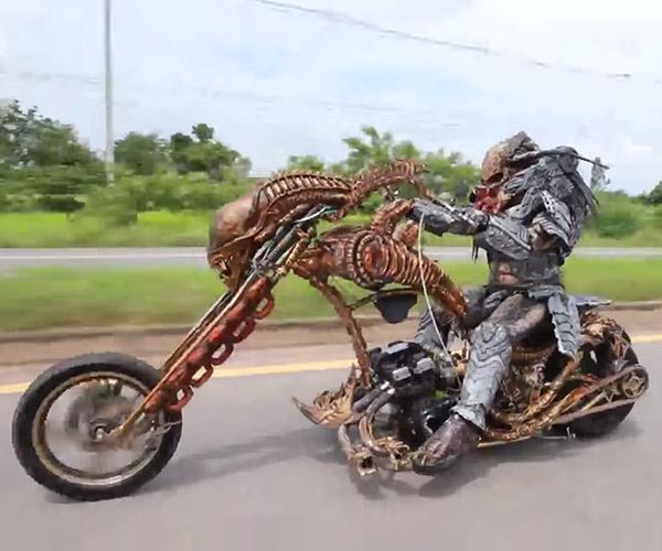 Predator Rides an Alien