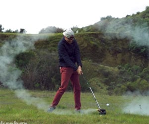 Rocket-Powered Golf Club