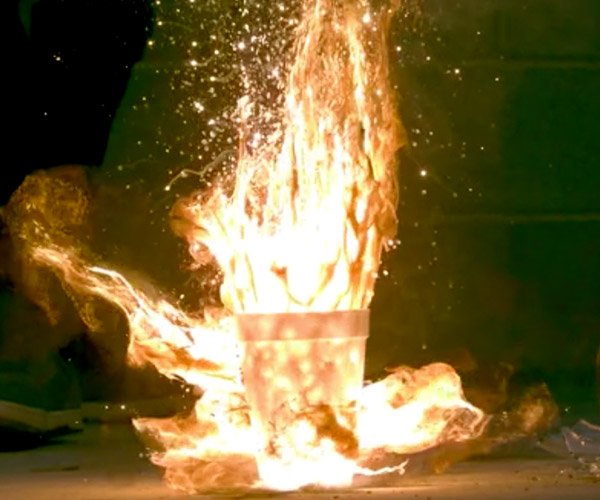 Steel Wool + Liquid Oxygen