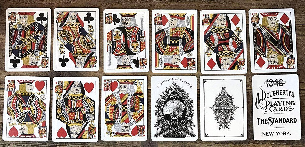 Triplicate Dragon Playing Cards