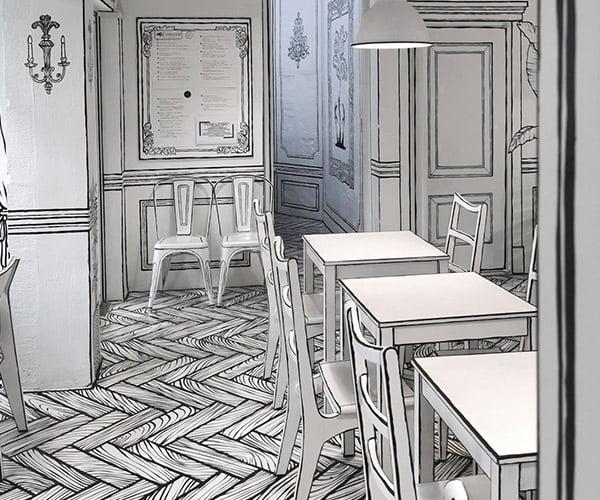 Line Art Cafe