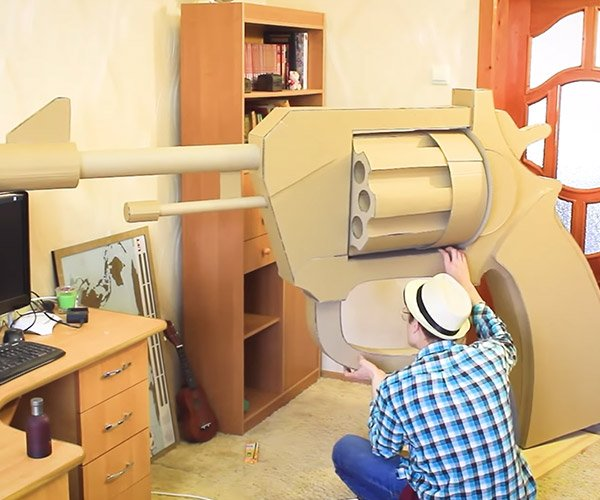 Making a Giant Cardboard Gun