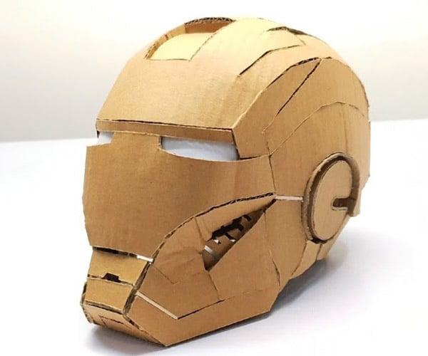 Cardboard Iron Man Helmet