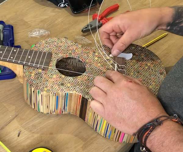 Colored Pencil Ukulele