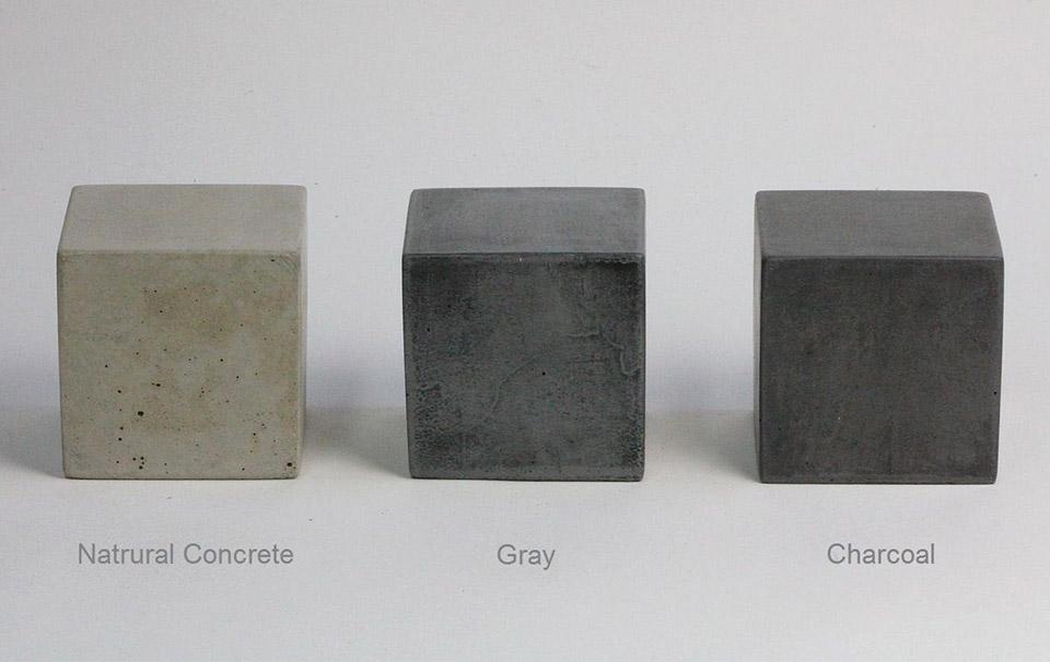Concrete Square Bookends