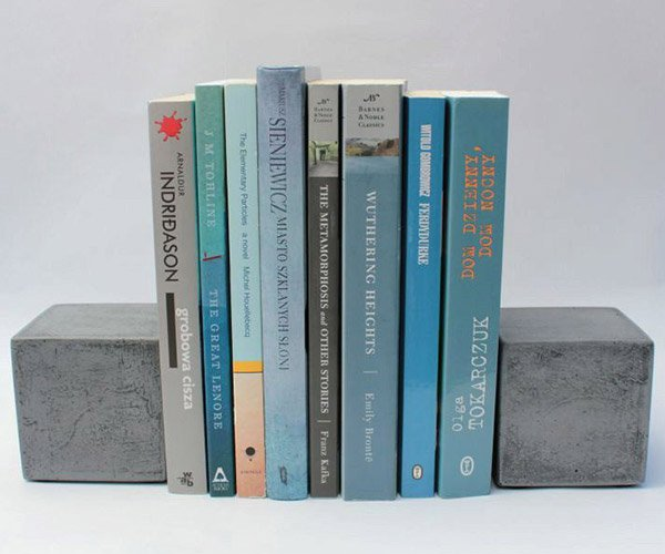 Concrete Square Bookends