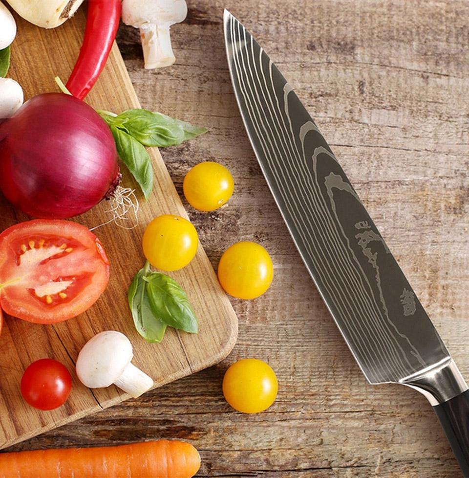 Damasukasu Chef Knife Set