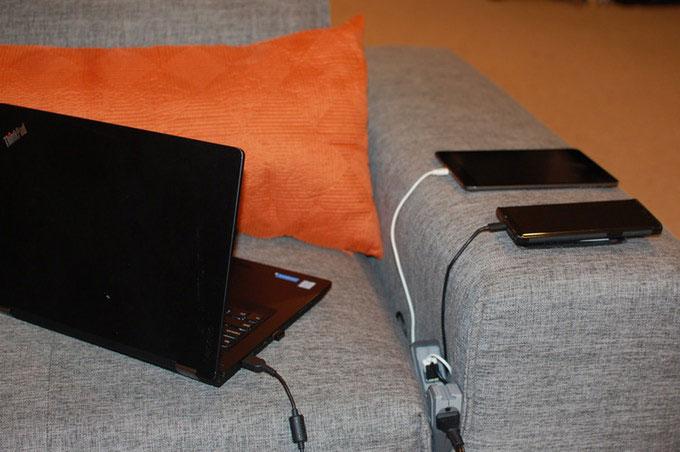 Powerfin Sofa Power Strip