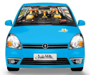 Rubber Chicken Car Shade