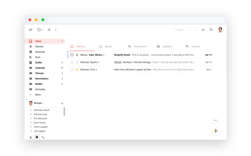 Simplify for Gmail