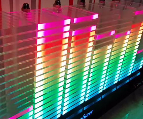 This Colorful Tabletop Spectrum Analyzer Is The Coolest Lighting Fixture