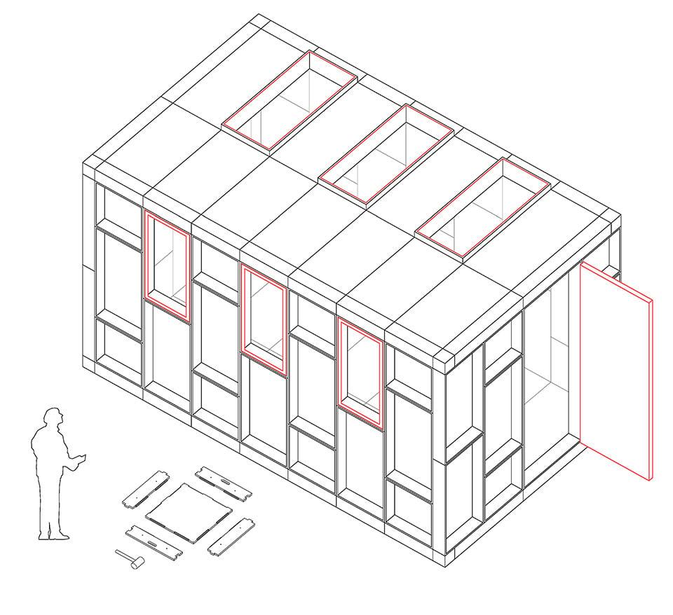 U-Build Flat Pack Building Frame