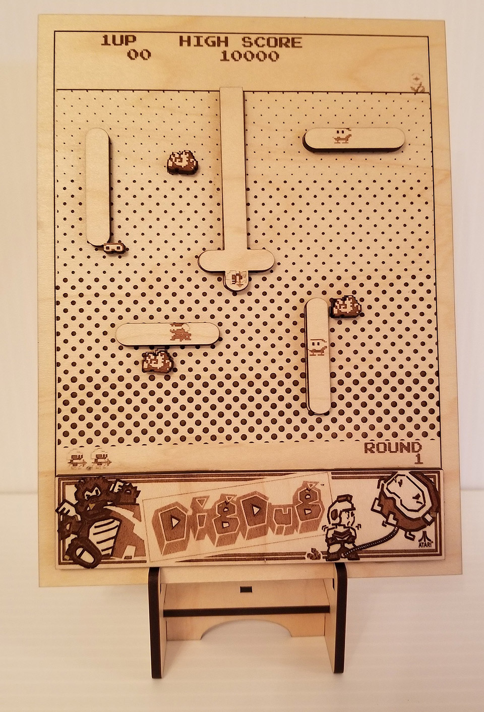 Laser-cut Arcade Art