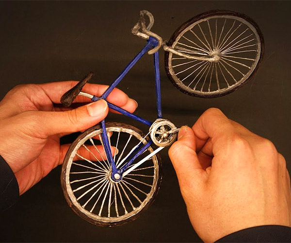Drawing a 3D Bicycle Model
