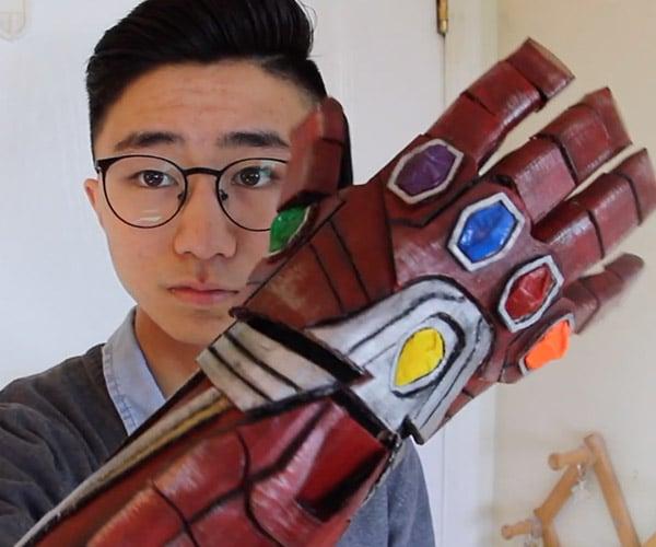 Cardboard Iron Man Infinity Gauntlet