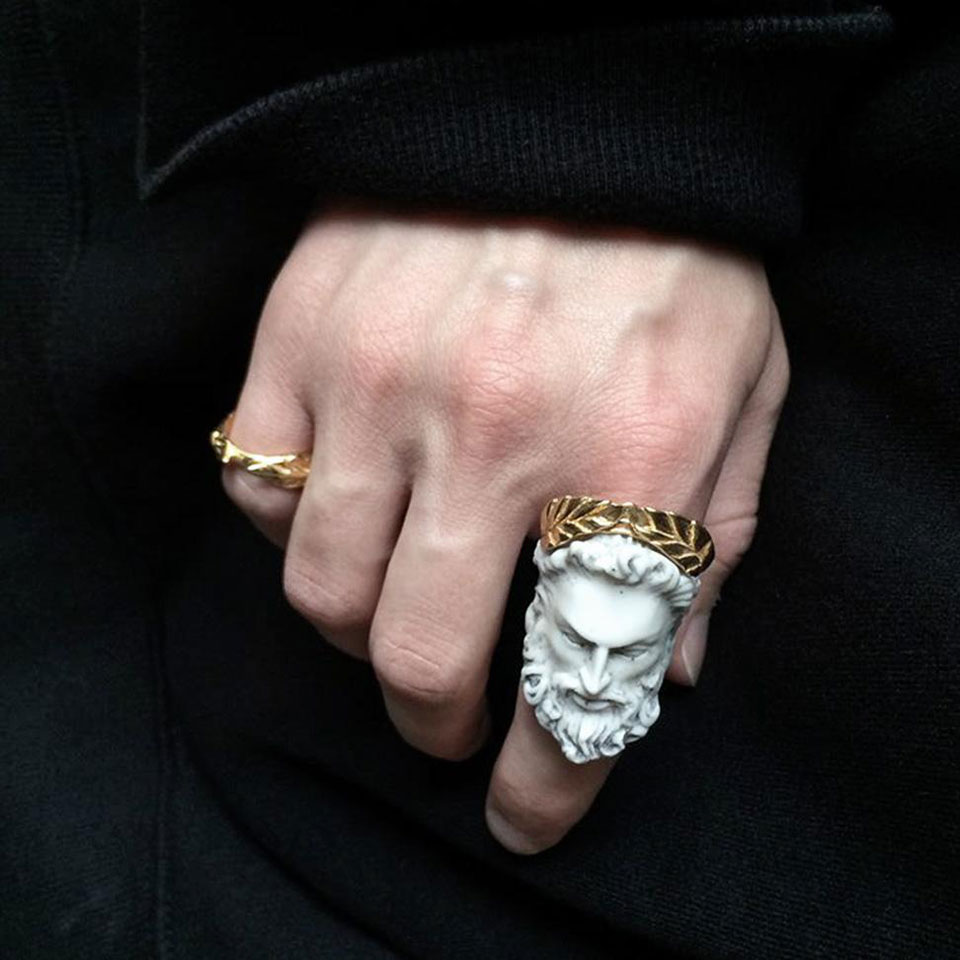 Macabre Gadgets Makes Gothic Rings in Marble and Metal