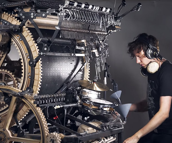 Marble Machine X Plays Drums