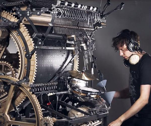 Marble Machine X Plays Drums