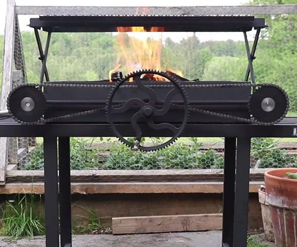 Building a Scissor-lift BBQ Grill