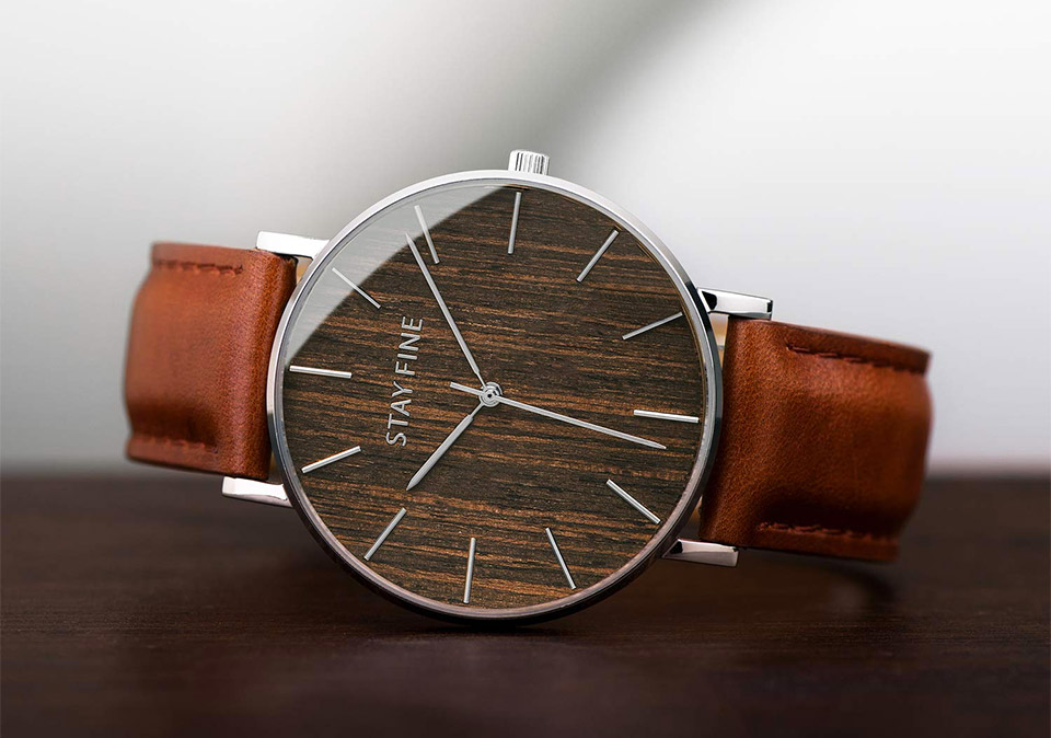 Stay Fine Wood Watch