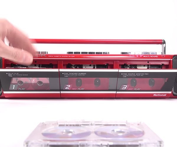 Retro Tech: Triple Tape Boombox