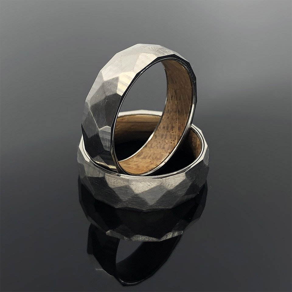 Whiskey Barrel Titanium Ring