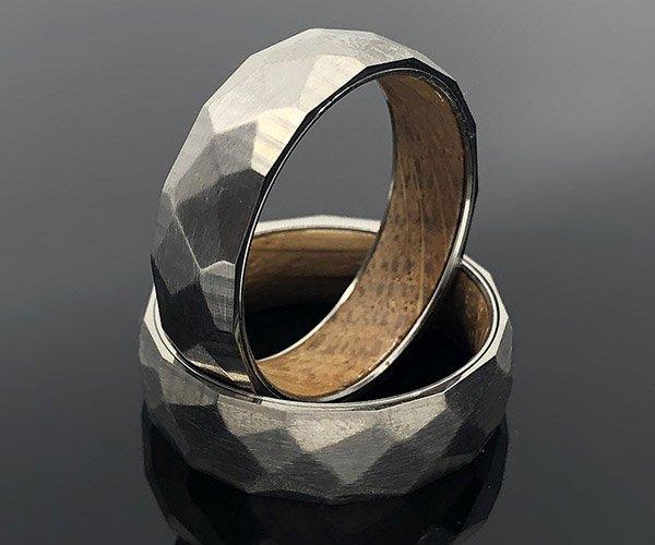 Whiskey Barrel Titanium Ring