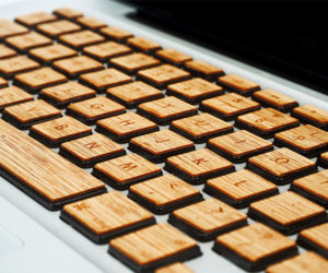 Wooden MacBook Keys