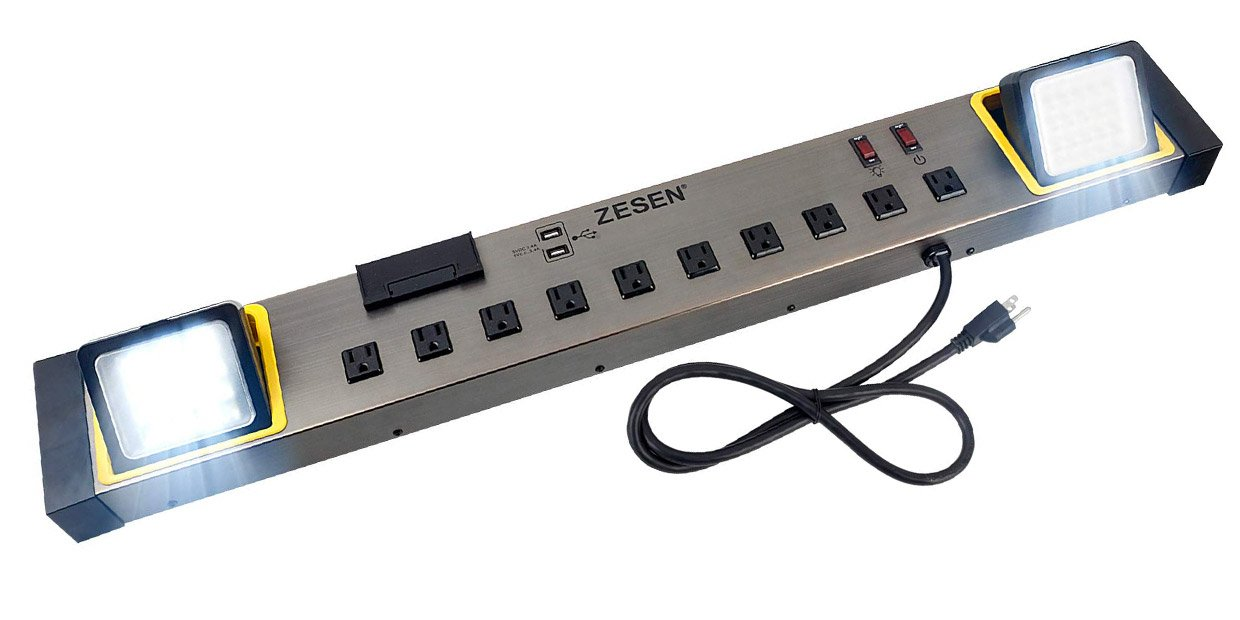 Strange This Jumbo Power Strip Doubles As A Bright Led Workbench Light Alphanode Cool Chair Designs And Ideas Alphanodeonline