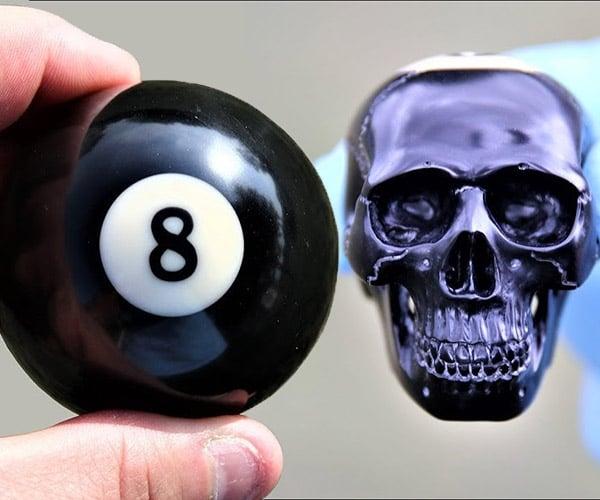 Carving a Billiard Ball Skull