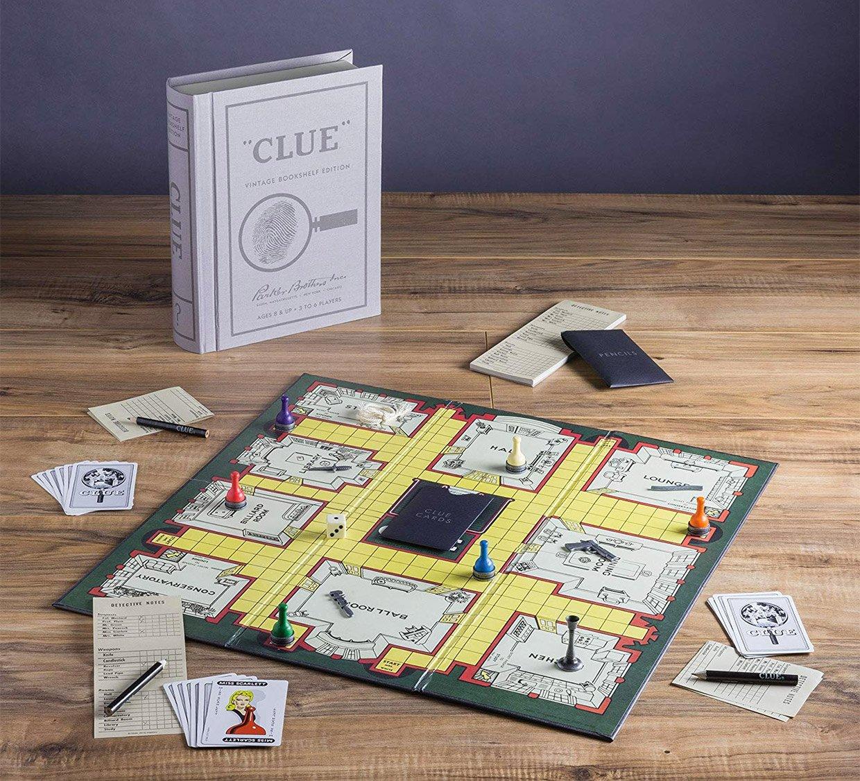 Vintage Bookshelf Board Games