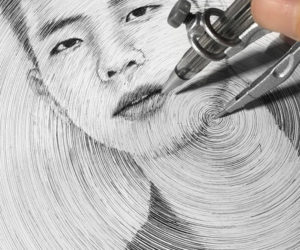 Drawing Portraits with a Compass