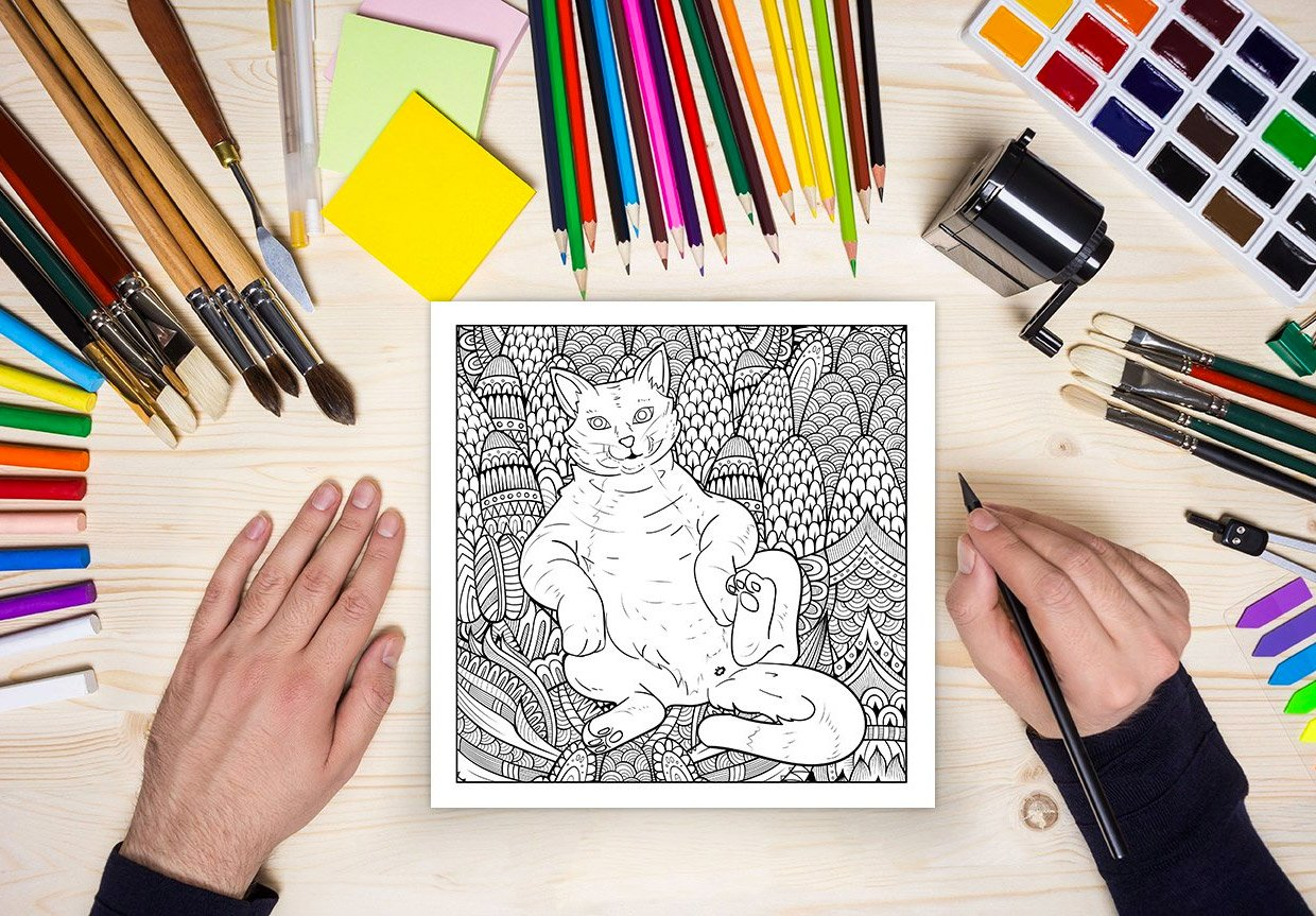 Cattbutt and Dogbutt Coloring Books