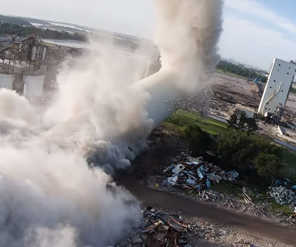 Demolition Drone Flight