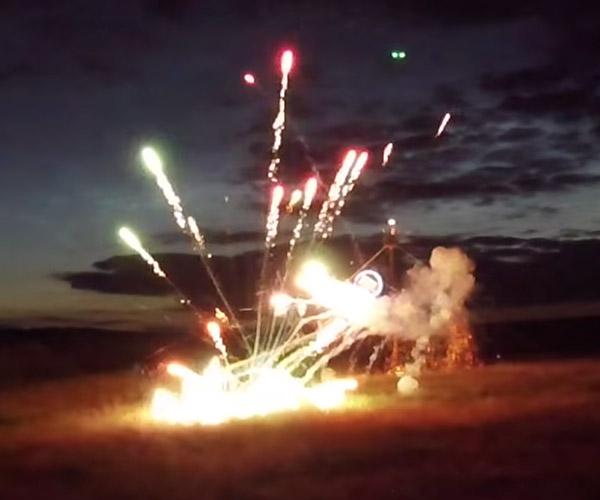 Giant Firework Pendulum
