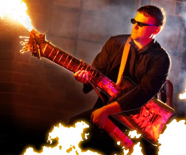 Car Part Flamethrower Guitar