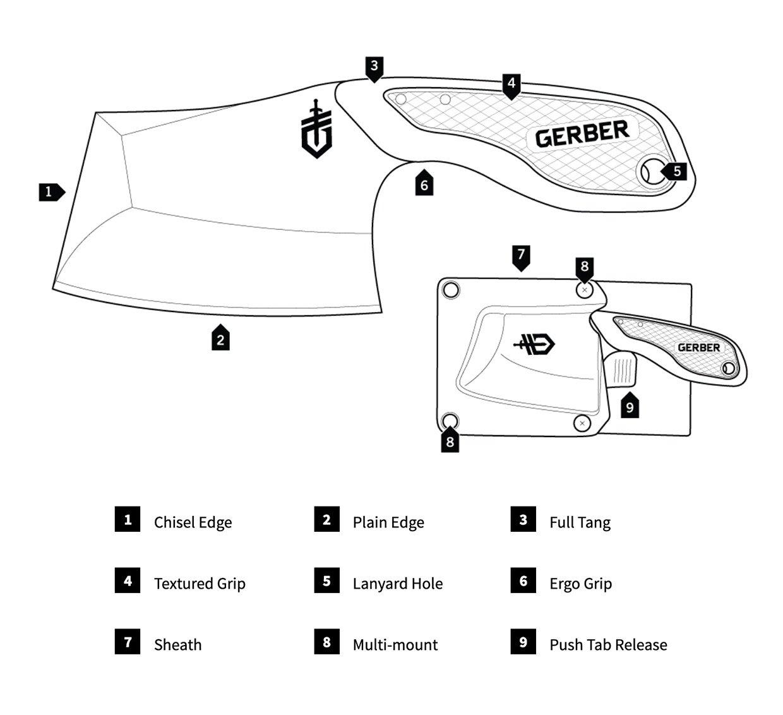 Gerber Tri-Tip Mini Cleaver