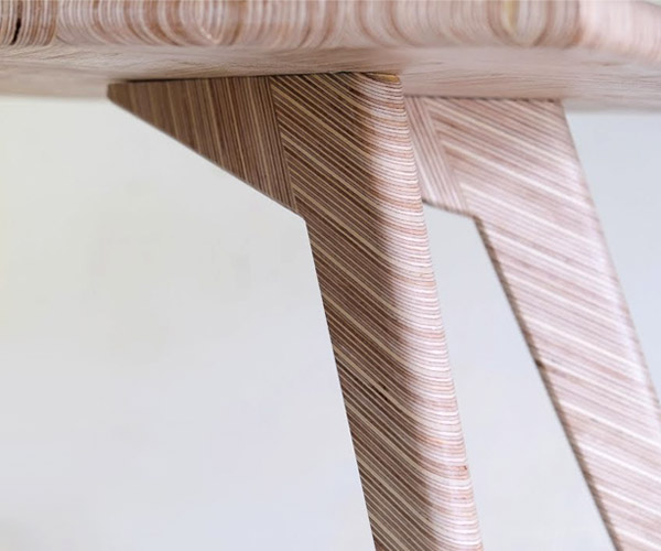 DIY Herringbone Plywood Table