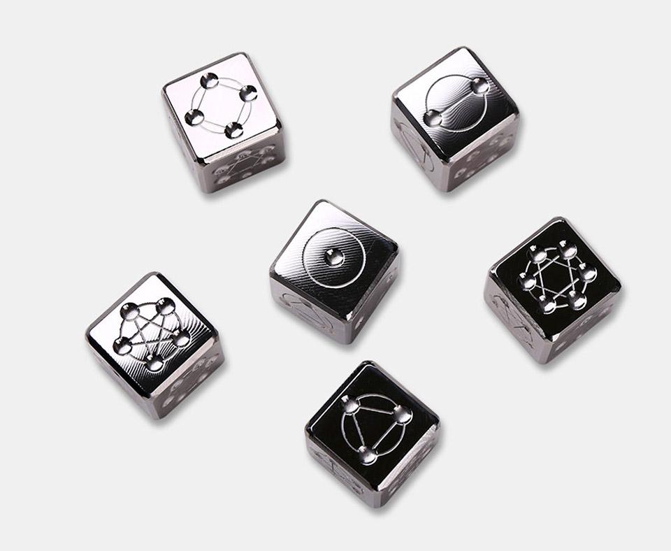 TI Maze Titanium Dice