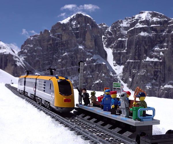 LEGO Train in the Mountains