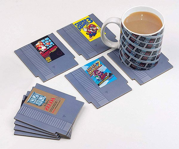 NES Cartridge Drink Coasters