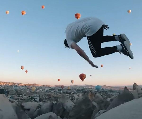 Parkour vs. Hot Air Balloons