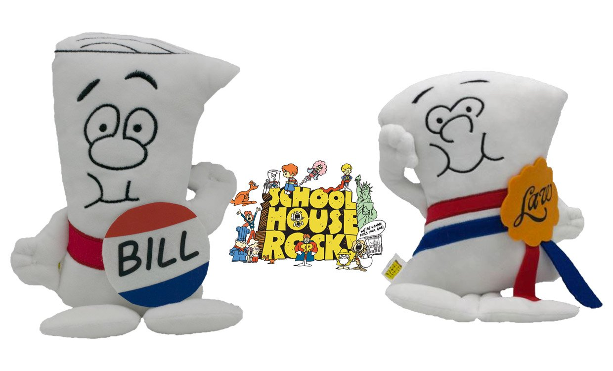 Schoolhouse Rocks Plushes