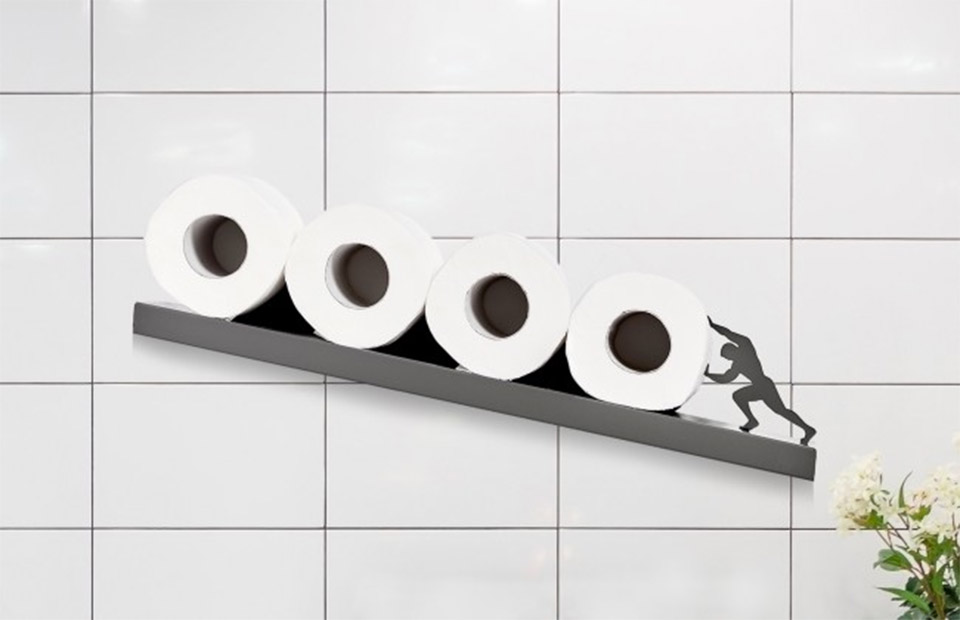 Sisyphus Toilet Paper Shelf