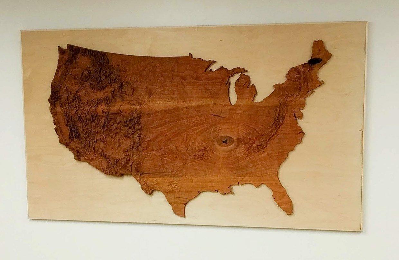 Topographic Wood Maps
