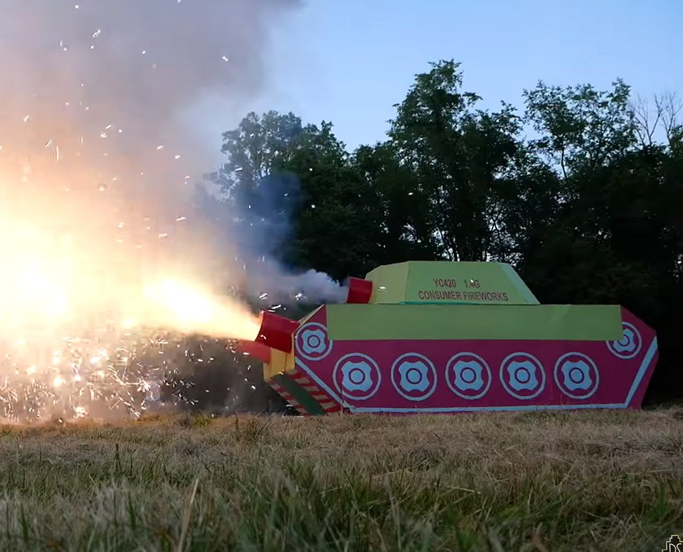 World's Largest Firework Tank