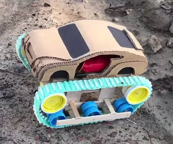 Cardboard Bentley Ultratank