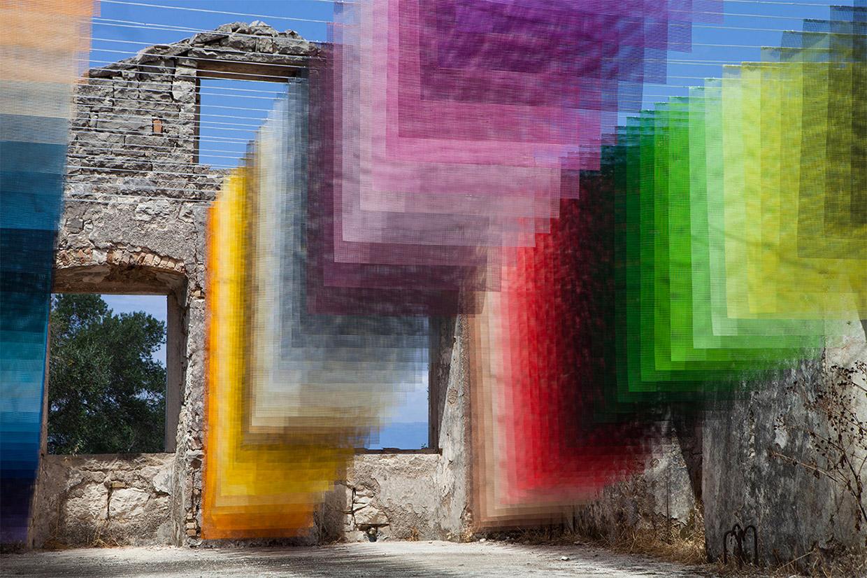 Mesh Color Panel Art