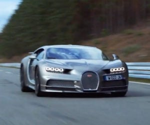 Driving a Chiron at Top Speed